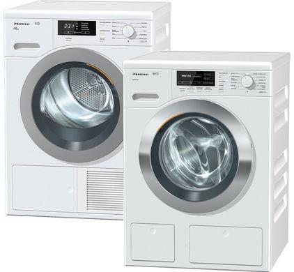Miele wasmachine W1 en Miele droger T1