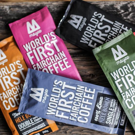 Moyee Coffee - FairChain koffiebonen - Fairtrade koffie - Bundles koffie abonnement - verpakking