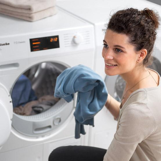 Leasen wasmachine Miele wasmachine in gebruik